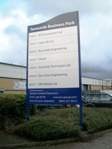 New Sign at Tameside Industrial Estate