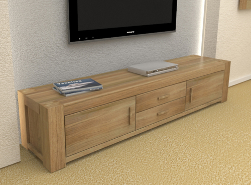Atlas Solid Oak Furniture Large Widescreen Led Lcd Plasma