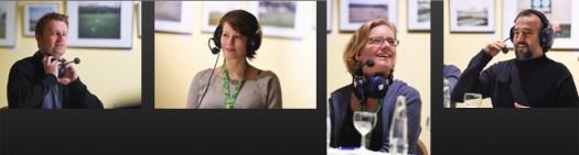 Foto Collage des Gesprächs zum Film Offside während des 11mm Filmfestivals (c) Stefanie Fiebrig