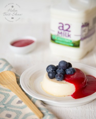 Easy Vanilla Baked Custards with Raspberry Coulis