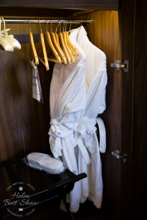 Cosy fluffy bathrobes and slippers at the Amba Hotel Charing Cross