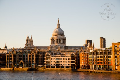 St Pauls and the Thames early evening light