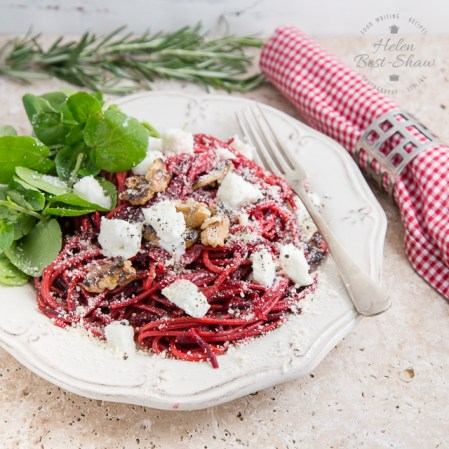Riverford Beetroot Chilli and Rosemary Spaghetti