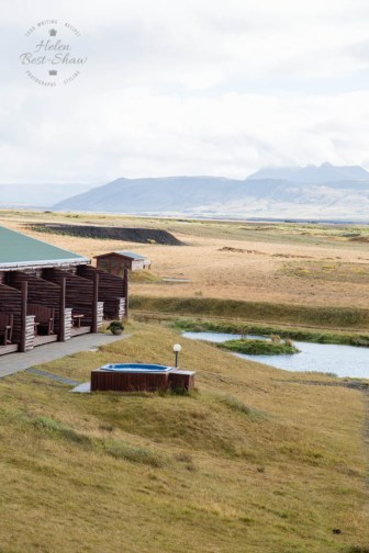Hot tub at Hotel Ranga, South Iceland