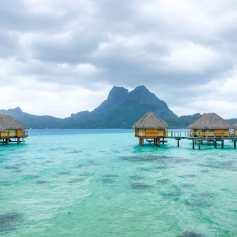 Looking across the lagoon Bora Bora