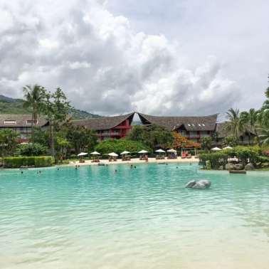 Sand bottomed pool at Le Meridien Tahiti