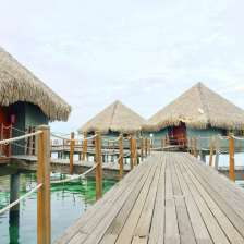 Overwater bungalows at Le Meridien Tahiti
