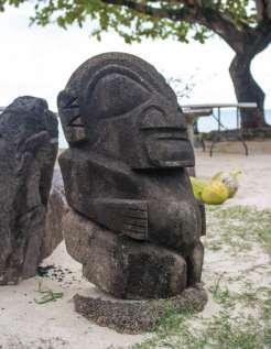 Tahitian Statue on Moorea