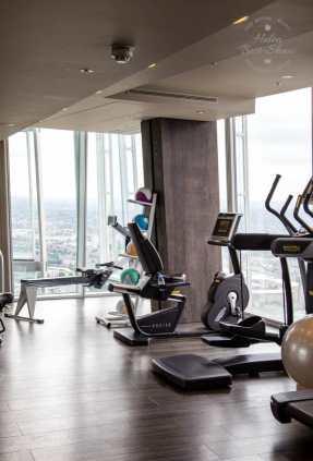 Gym at the Shangri La at the London Shard