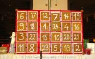 Advent calendar made of gingerbread, Palais Hansen Kempinski, Vienna