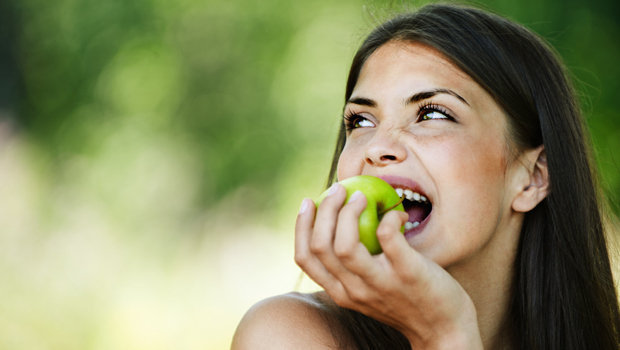 Image result for eating green apple""