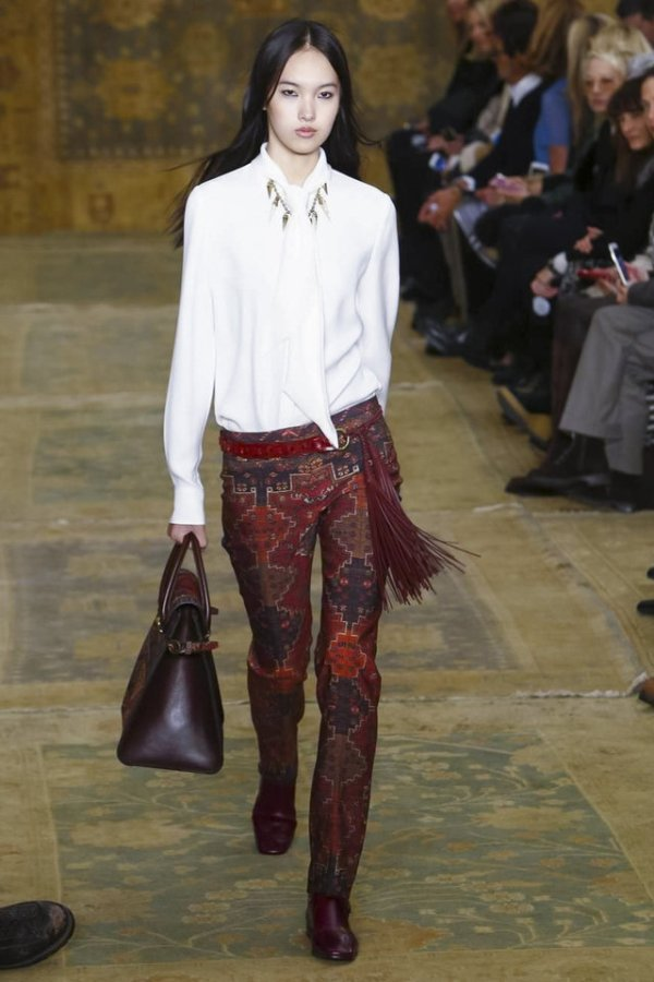 Accessories with a Moroccan Vibe at Tory Burch's Fall 2015 ...