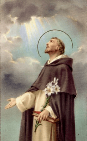Before St. Dominic's time the ruling principle had been separation from the world, in order to join Christ. Dominic and later Francis, too, advocated saving the world not by renouncing it but by mingling and engaging with it. St. Dominic is the patron saint of astronomers, falsely accused people and scientists.