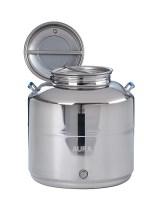 FUT INOX 50 litres Livré complet joint et bouchon de vidange Options: Robinet 1/4 de tour, trépied