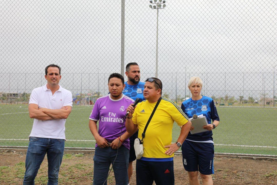 Equipo de futbalia durante el draft o visorias de Ecuador en 2018