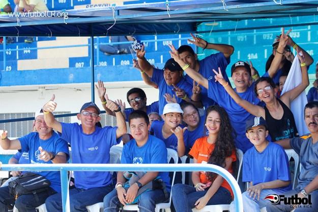 Los dedicados del partido fueron los atletas de Olimpiadas Especiales de Cartago.