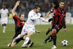 Auxerre-Milan, fase de grupos de la Champions League, temporada 11/12