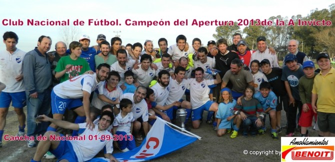 Nacional es Campeón Invicto también en Primera División. Foto Fanny Ruétalo