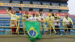 La hinchada brasileña