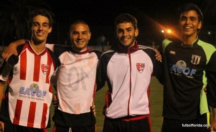 Steven Pérez, Cristian Piar, Ramiro Scocozza y Mateo Quiroga.