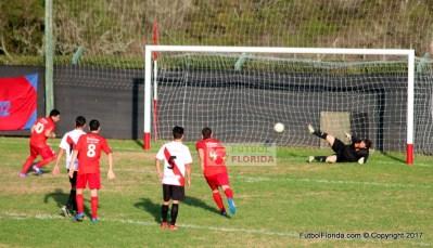 De penal Aguire señalaba el 1er gol