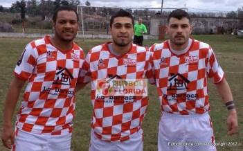 Los tres ex River. Cono Ledesma, Cristhian Cabalgante y Emiliano Ramos. Foto Rodrigo Castro