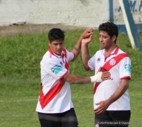 Festejo Diego y Enzo Pereira