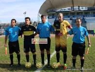 Arbitros de Maldonado Interior: Fernando Pígola, Nelson Agesta y Fabián Alcina (Asistentes)