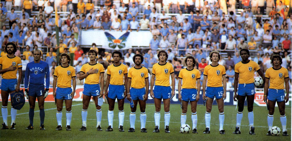 Maglia verde oro Brasile, calcio brasiliano