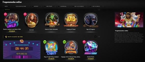 Juegos de casino en 888