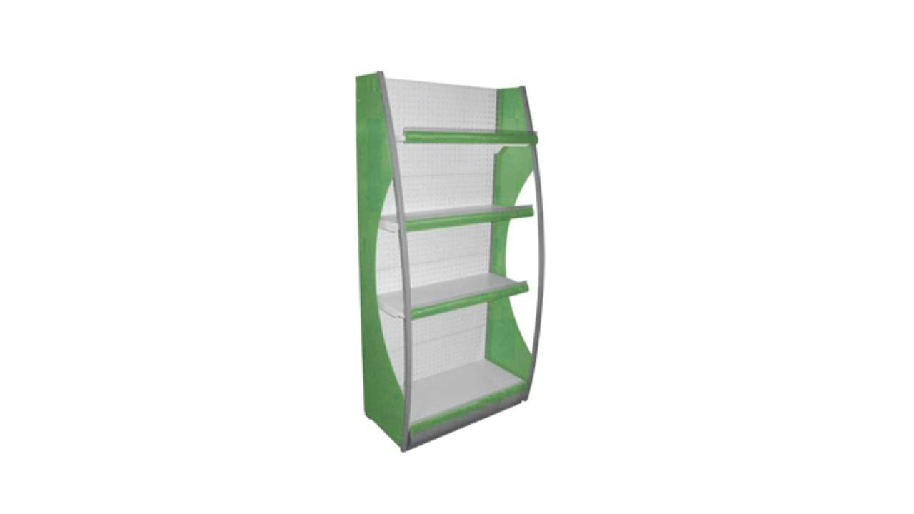 Gondola Shelf End Unit Green A82s
