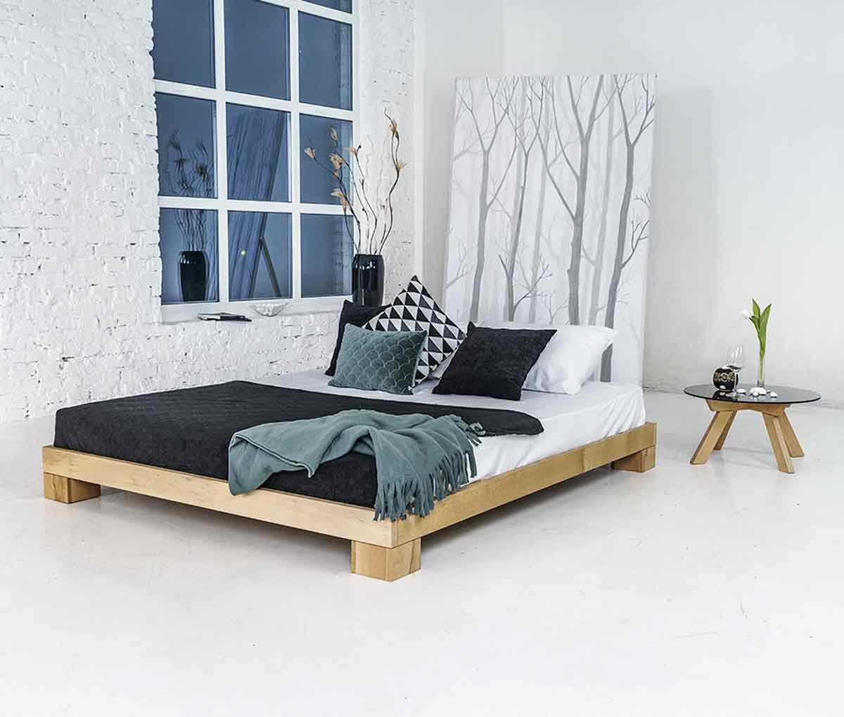 Cube Bed Frame 120x200 Solid Beech 4 120 00 Dkk