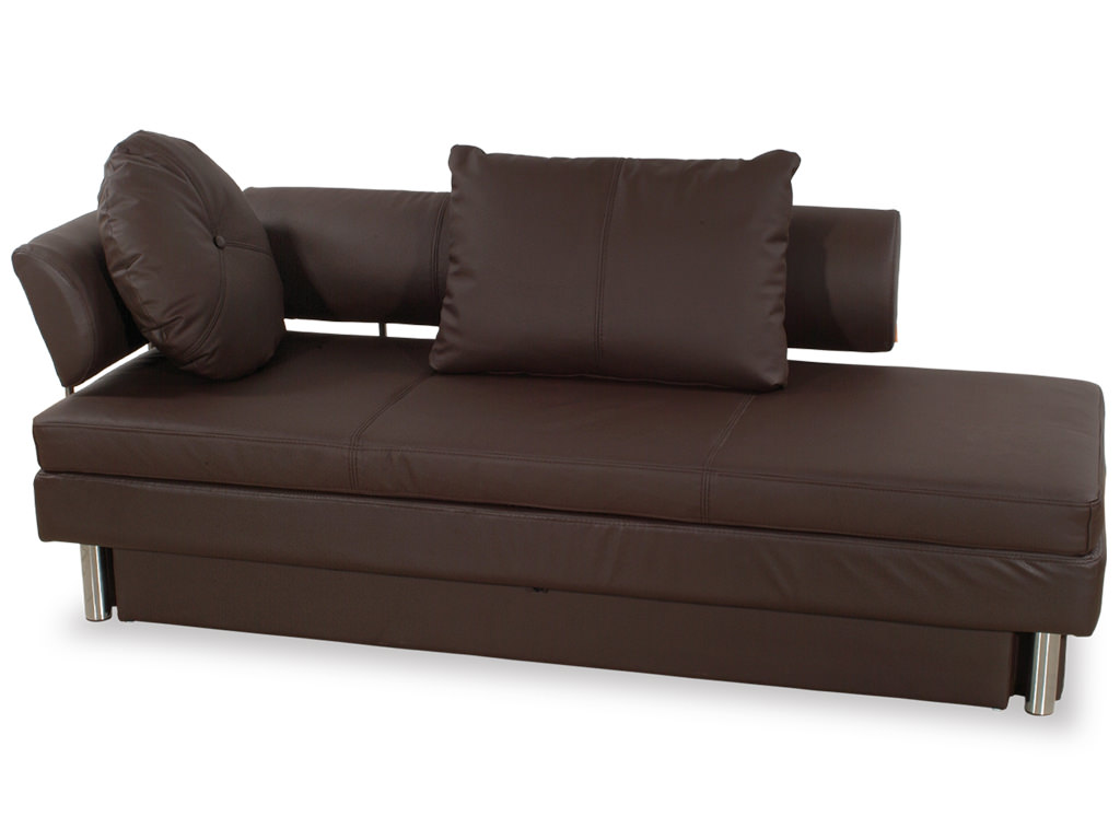 Nubo Brown Leatherette Queen Size Sofa Bed By At Home USA
