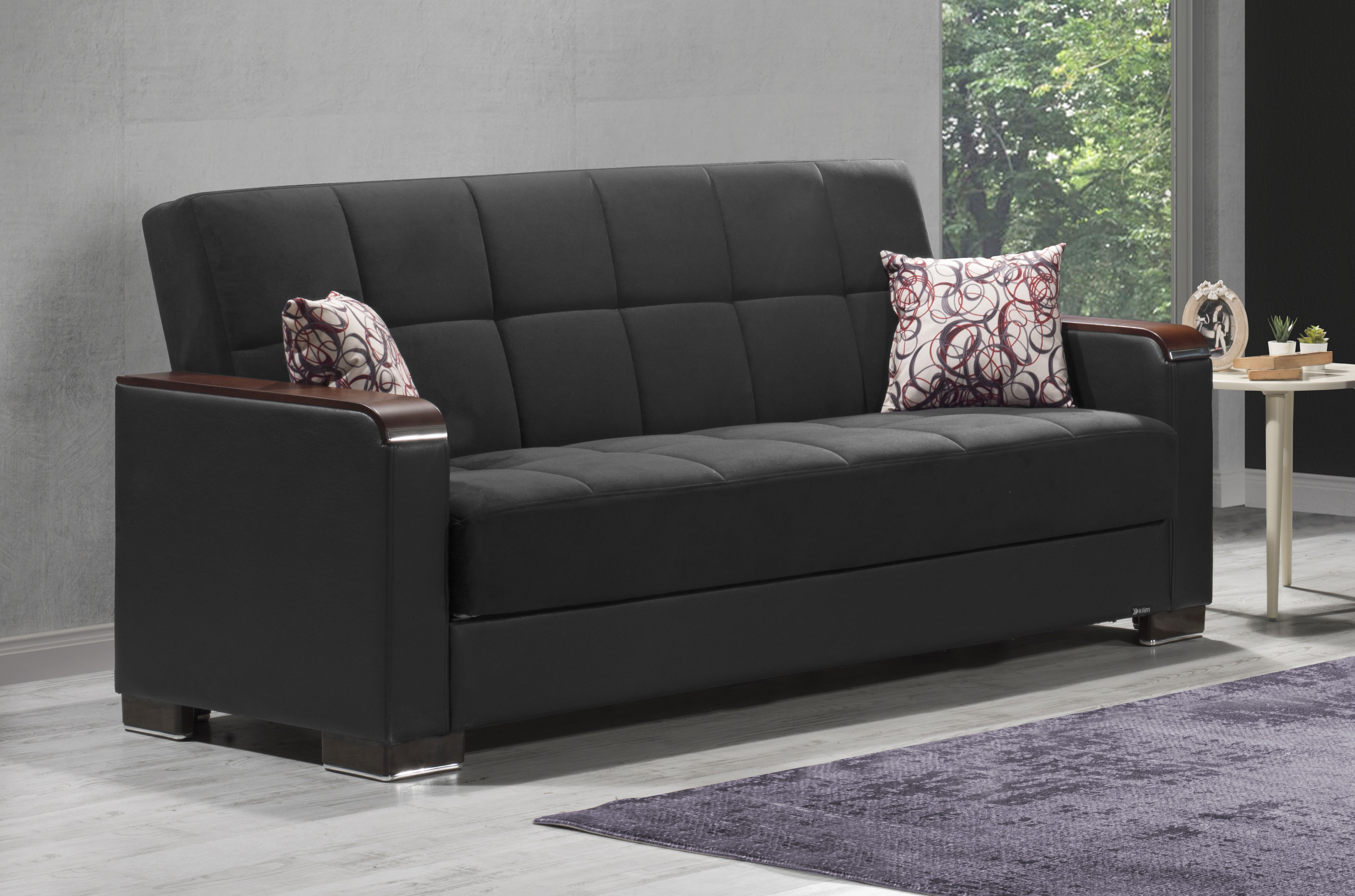 Armada X Black Sofa Bed By Casamode