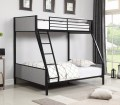 Capshaw Grey Black Twin Over Full Bunk Bed By Coaster