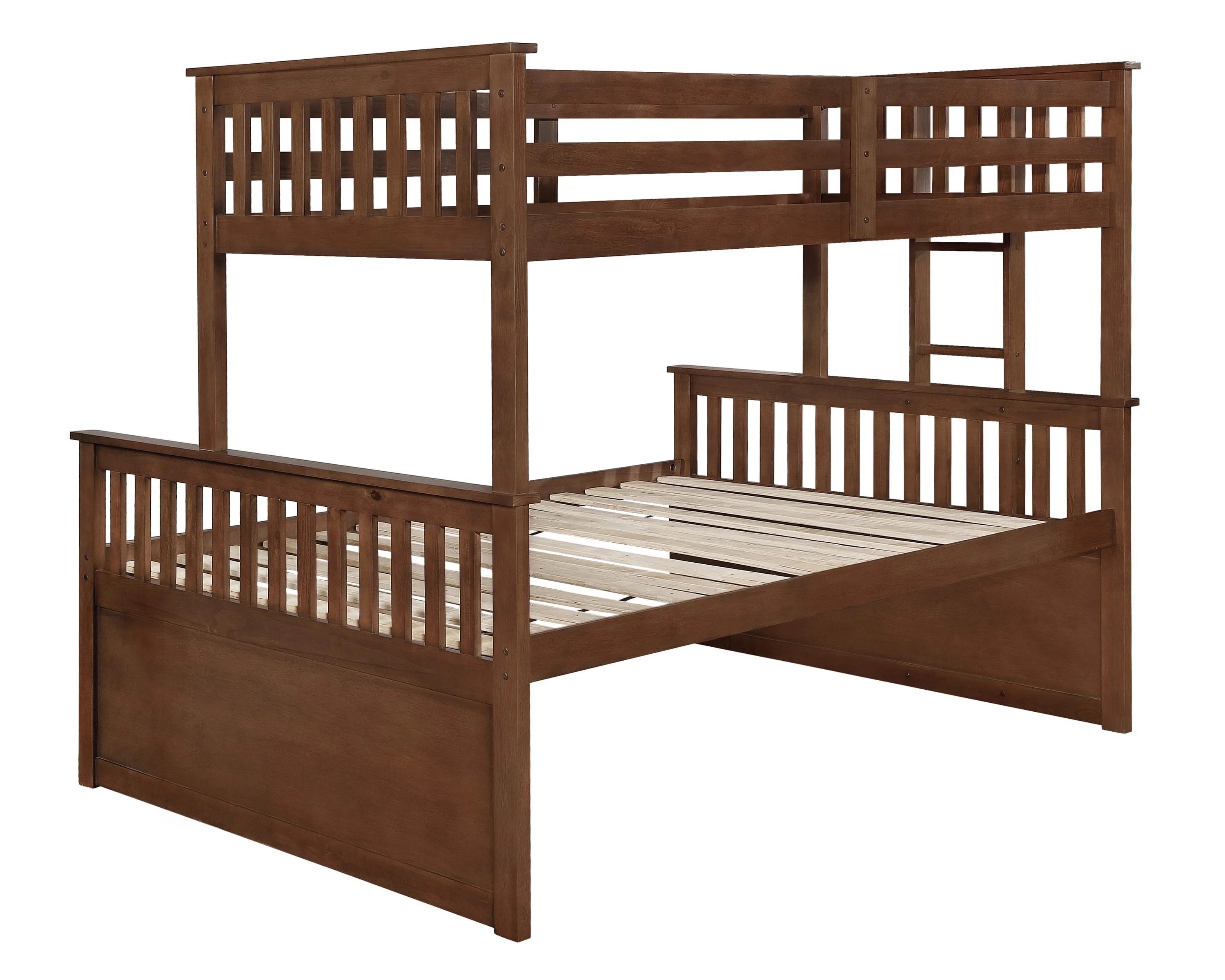 Atkin Weathered Walnut Twin Xl Over Queen Bunk Bed By Coaster