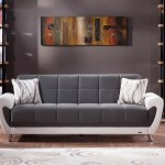 Duru Plato Dark Gray Convertible Sofa Bed By Bellona