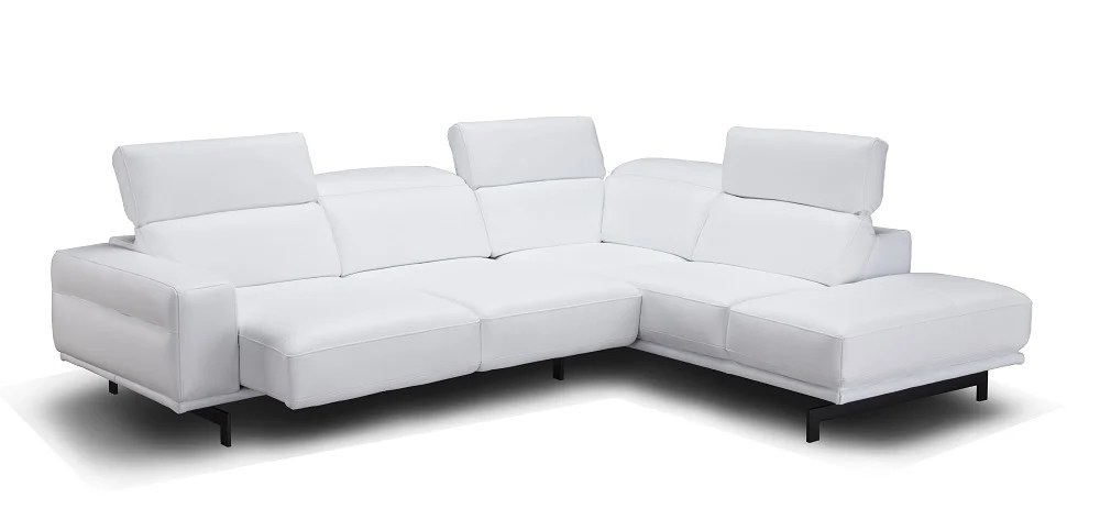 davenport italian leather sectional snow white by j m furniture