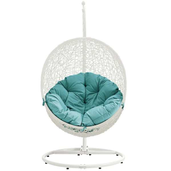 outdoor patio swing chair with stand Hide Outdoor Patio Swing Chair With Stand White Turquoise