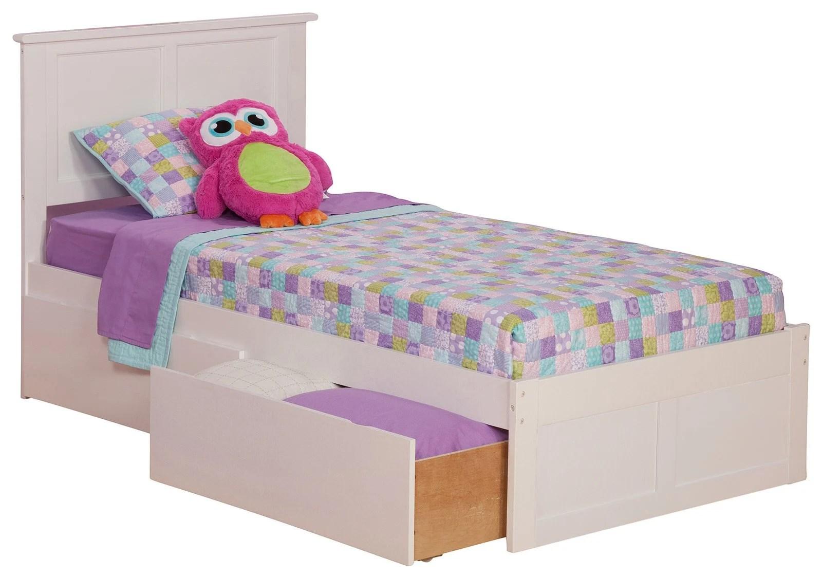 Madison White Platform Bed By Atlantic Furniture