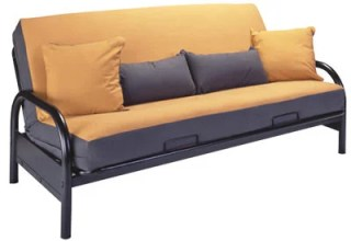 Basic Black Metal Futon