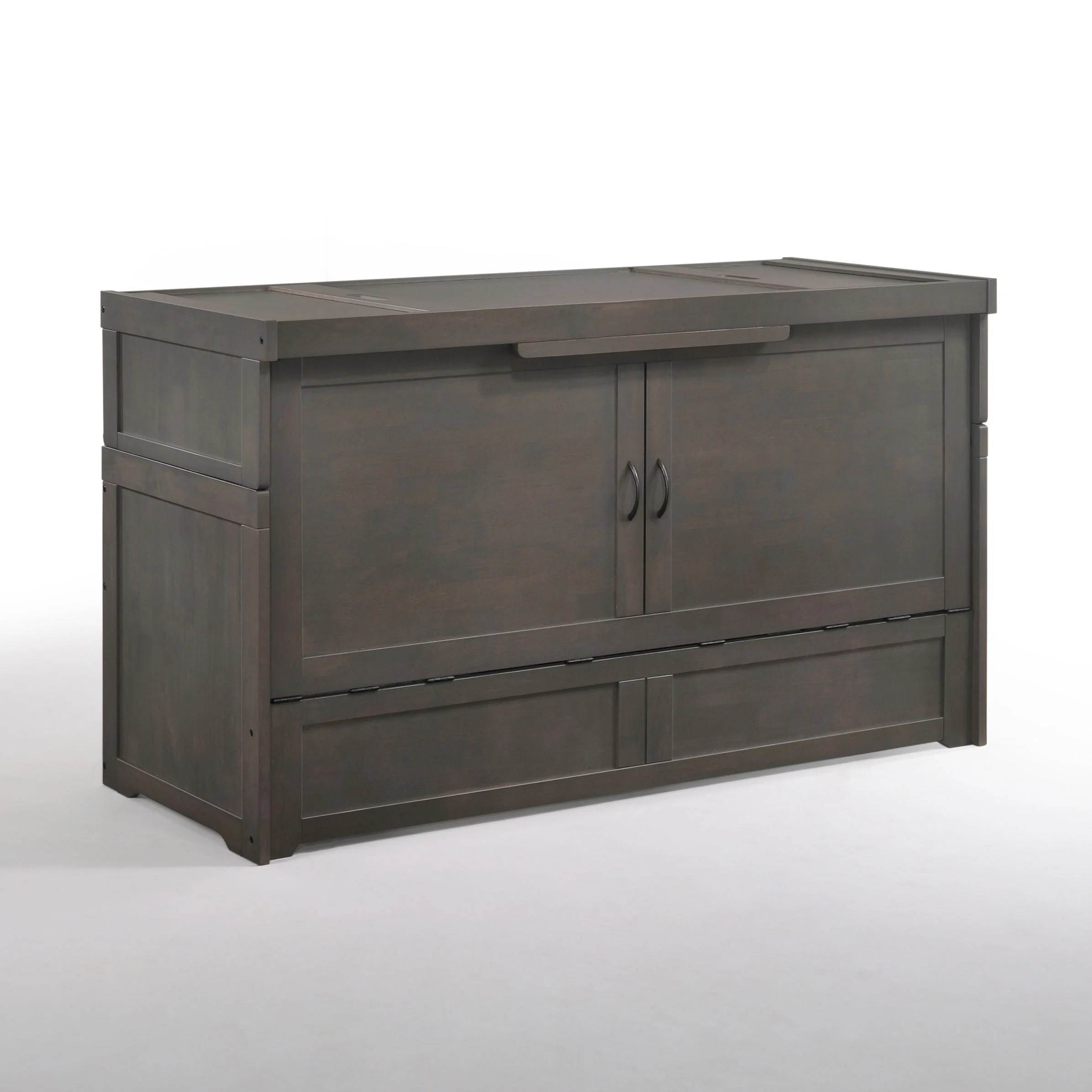 Cube 2 Queen Murphy Cabinet Bed Stonewash By Night Day Furniture