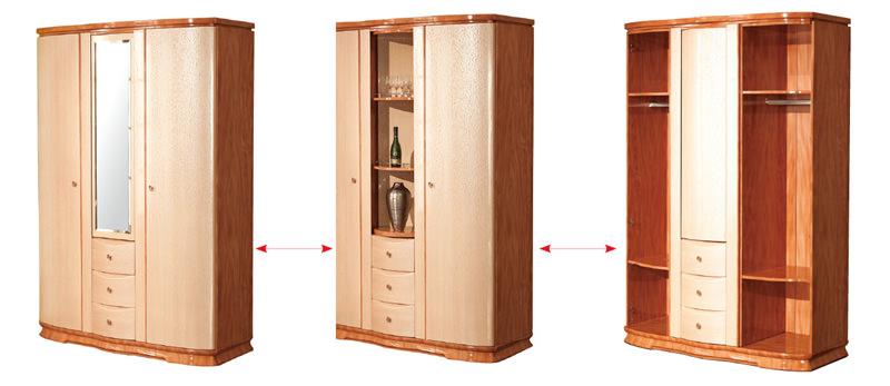 B33 2 Door Wardrobe W Mirror Amp Bar Shelf By Pantek