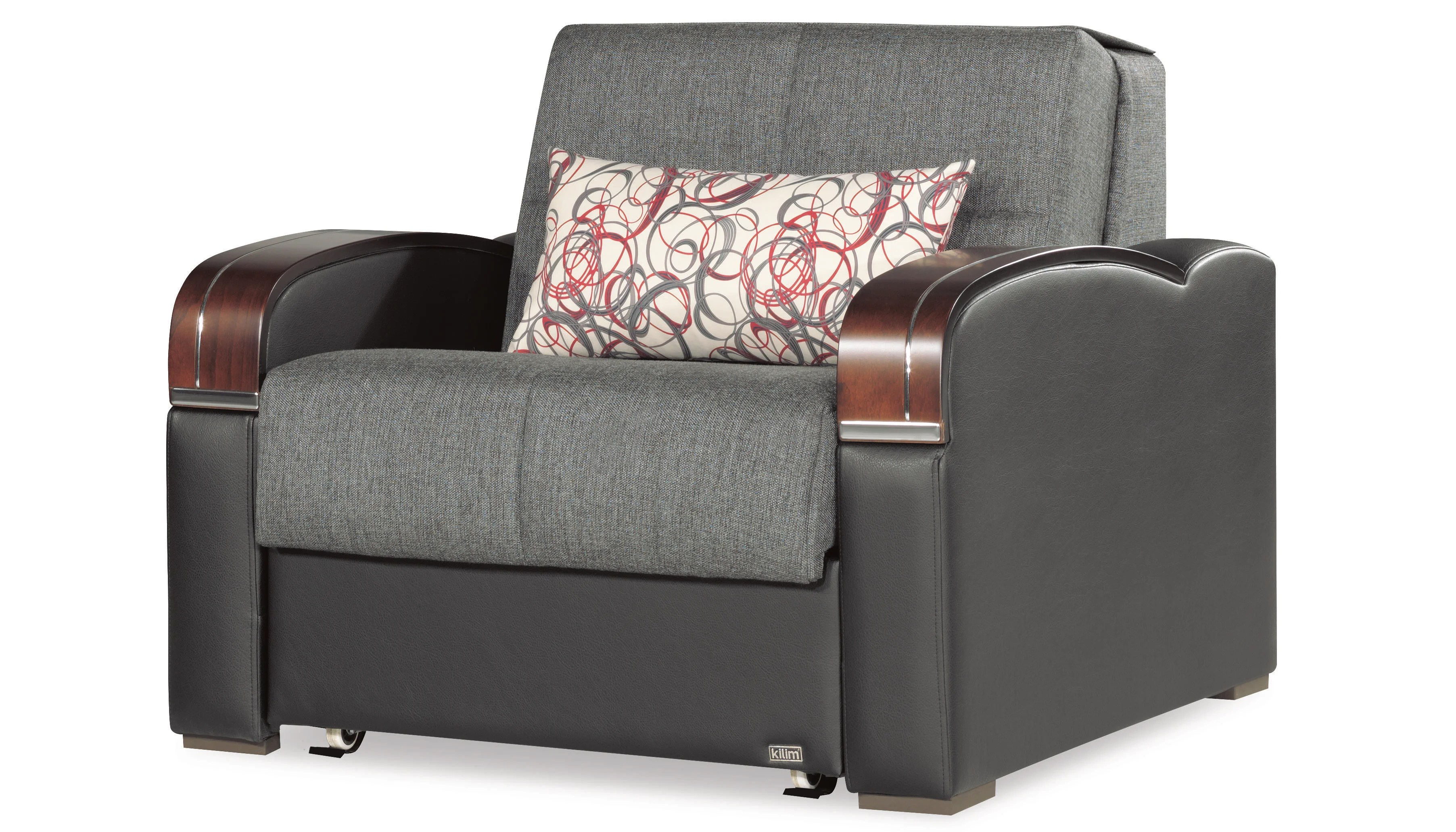 sleep plus gray convertible chair bed by casamode