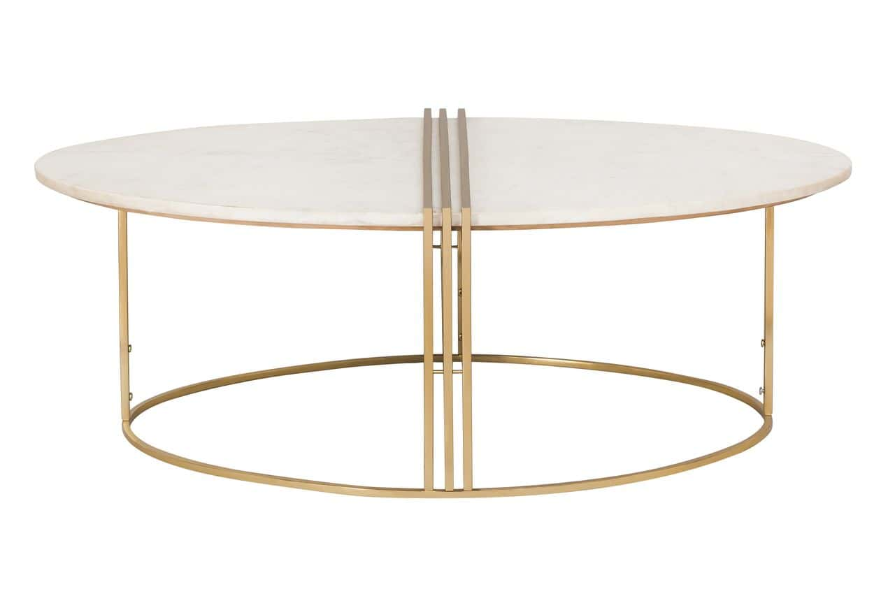 caleb oval white marble cocktail table by tov furniture