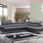 Divani Casa Quebec Modern Dark Grey Eco Leather Sectional Sofa By Vig Furniture