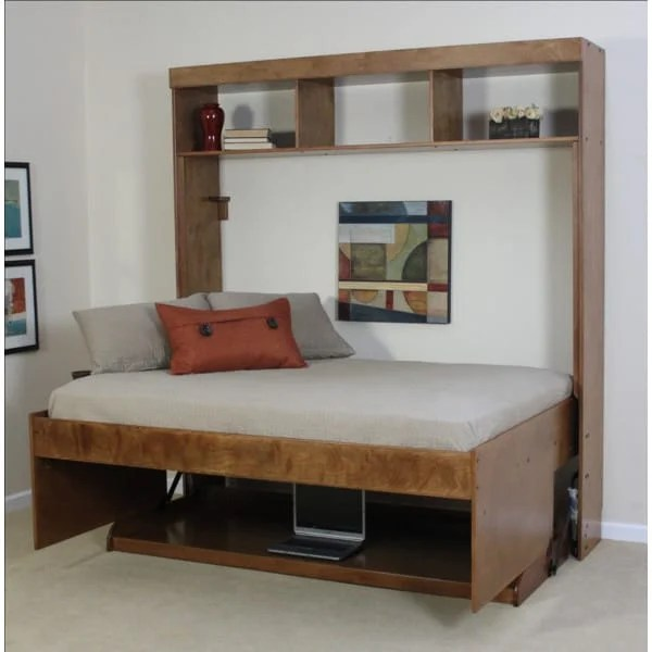Avalon Birch Hidden Bed WBuilt In Hutch By Wallbeds