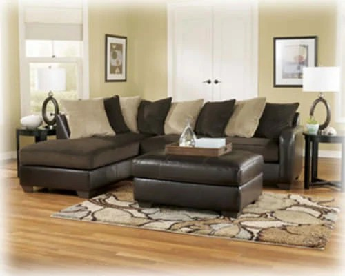 Gemini Sectional Sofa Chocolate Signature Design By Ashley