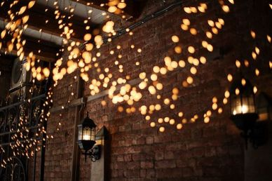 Lights against brick!