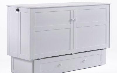Clover Murphy Cabinet Bed – Queen – White